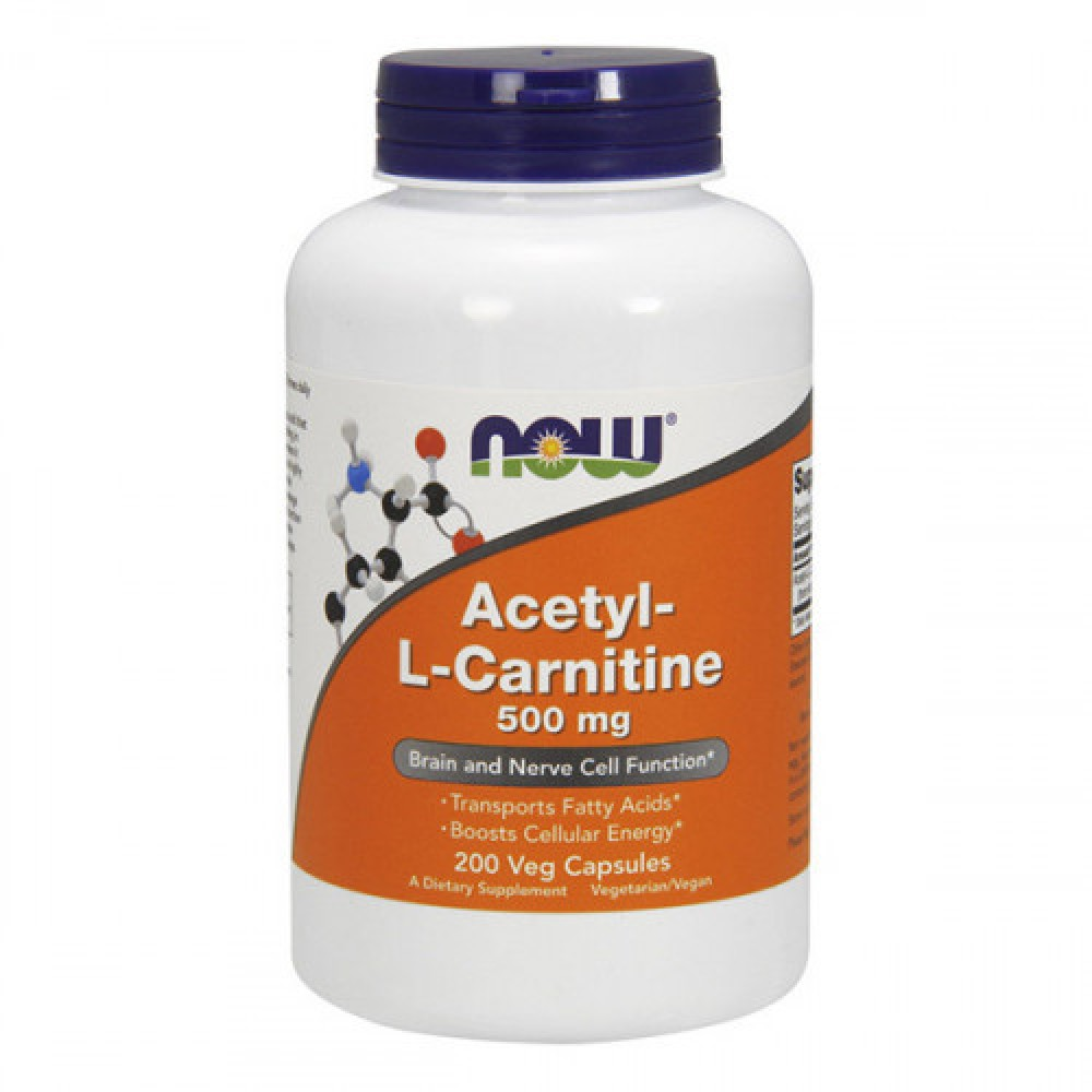 NOW Acetyl-L-Carnitine 500 mg 200 veg caps