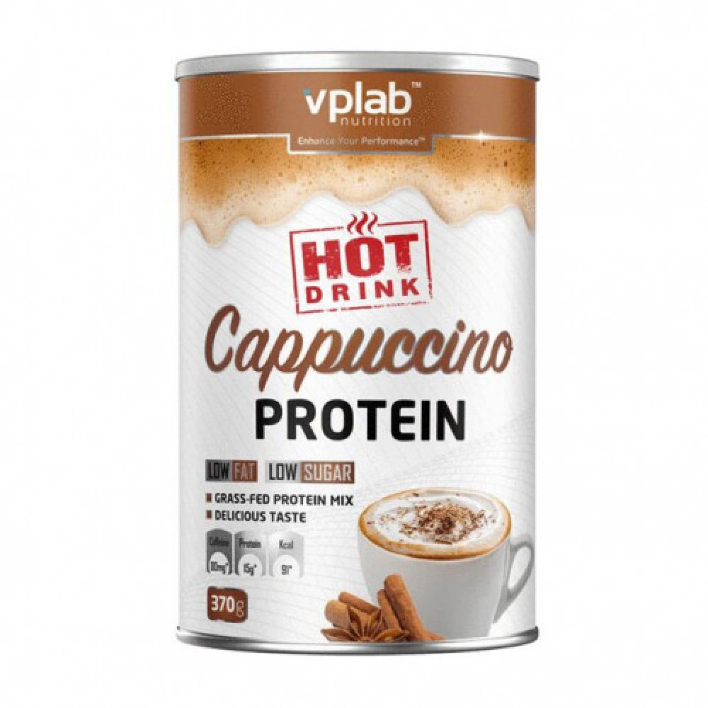 VP Labs Hot Drink Cappuccino Protein with Caffeine 370 g