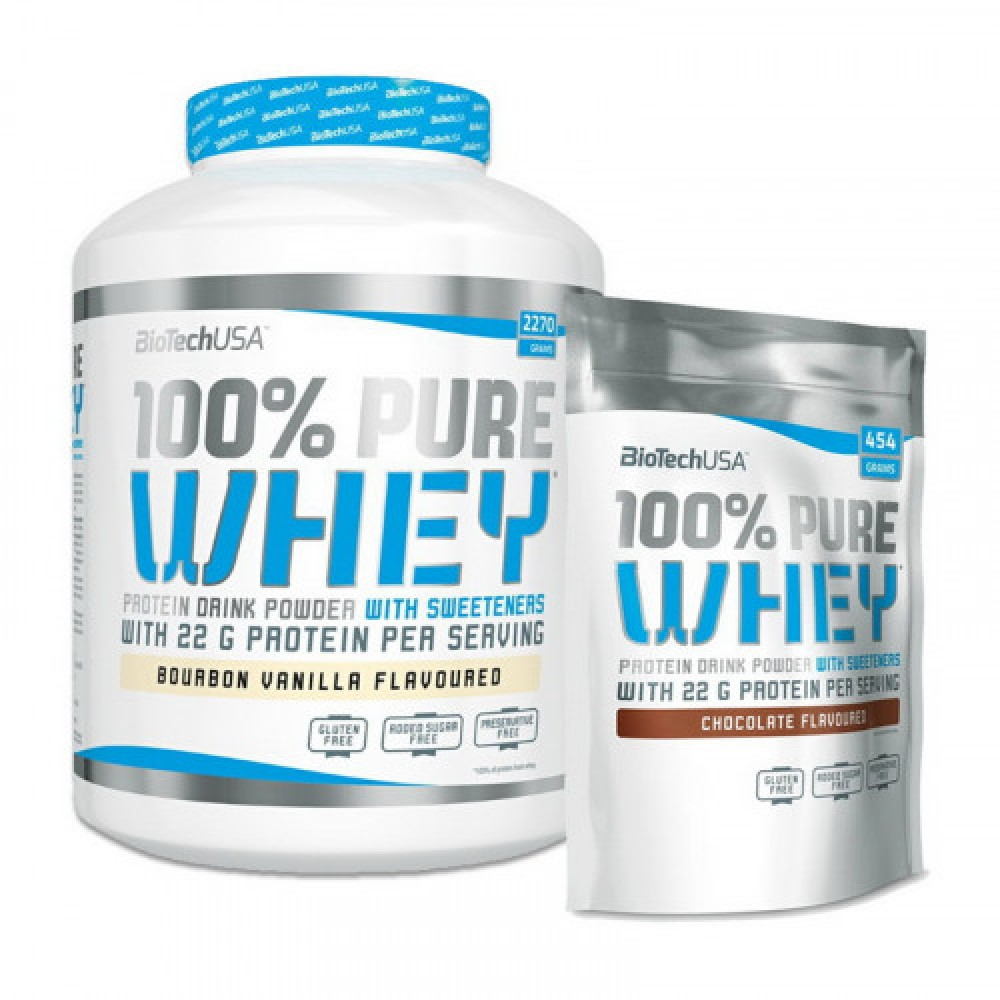 BioTech 100% Pure Whey 2,27 kg + 454 g
