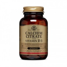 Solgar Calcium Citrate with Vitamin D3 60 tabs