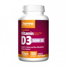 Jarrow Formulas Vitamin D3 125 mcg 5000 UI 100 softgels