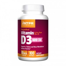 Jarrow Formulas Vitamin D3 10 mcg 400 UI 100 softgels